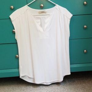 Loft white sleeveless shirt